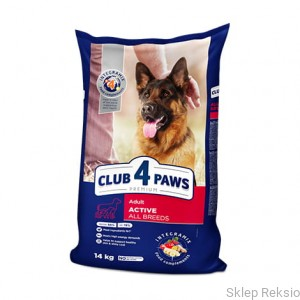 CLUB 4 PAWS PREMIUM Active All Breeds 14kg
