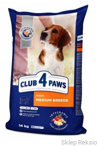 CLUB 4 PAWS PREMIUM Adult Medium Breeds 14kg